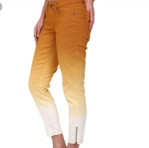 PrAna Jett gold ombre ankle pant w/ ankle zippers